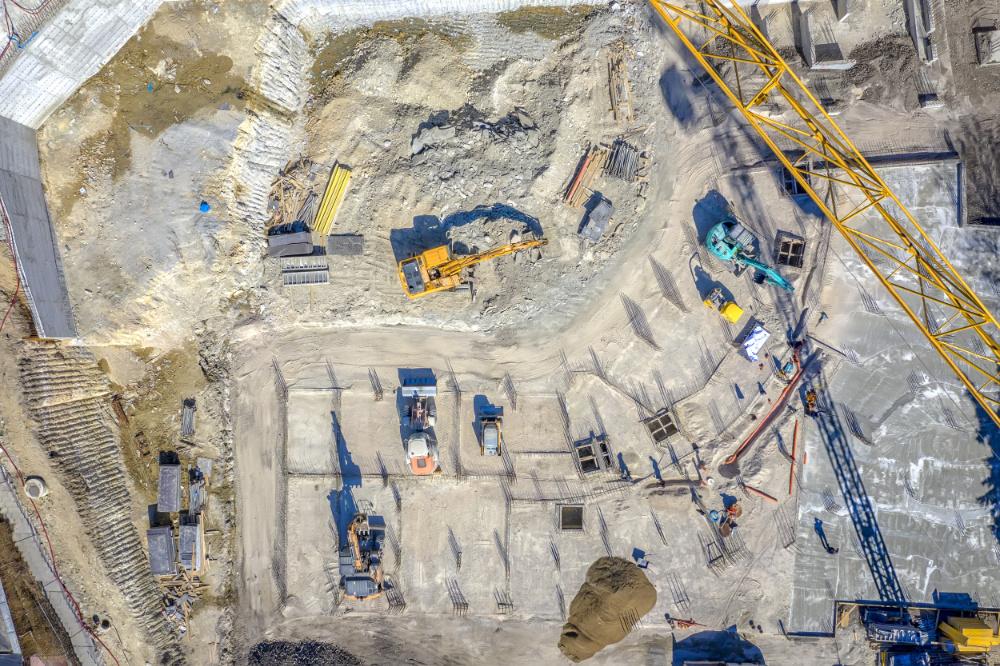 chantier vu en drone par Marc Mondange pilote de drone