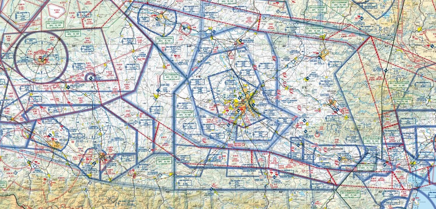 Carte OACI de Marc Mondange télépilote de drone