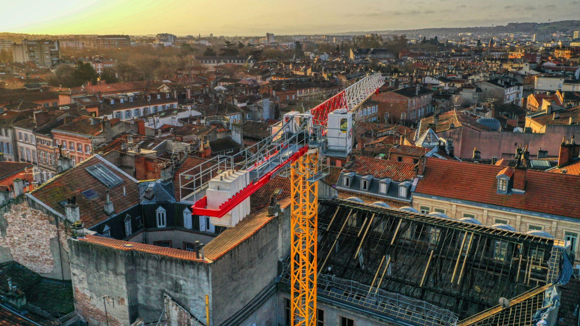 Drone Toulouse suivi chantier